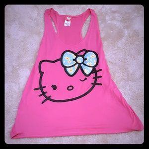 Hello Kitty Pink Racerback Tank Top XXL 19